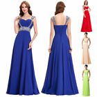2017 Long Chiffon Wedding Evening Bridesmaid Prom Party Cocktail Formal Dress