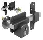 Gatemate Security Garden Shed Gate Lock Euro Long Throw Bolt - Double Locking