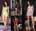 Leg Avenue Sexy Lace Up Front Beach Lace Mini Dress  & Thong In 6 Colours 8-12