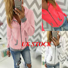 UK Womens Warm Hoodies Hoody Sweatershirt Hooded Jumper Pullover Coat Zip Jacket