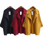 ZANZEA Womens Ladies Trench Coat Double Breasted Autumn Open Front Long Jacket