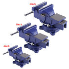 """5/6"""" Bench Vise with Anvil Swivel Locking Base Table top Clamp Heavy Duty Steel"""