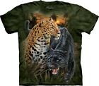 The Mountain Unisex Adult Two Jaguars Animal T Shirt