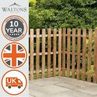 Wooden Garden Fence Fencing Picket Panels Palisade Flat Top Dip Treated 3ft 4ft