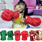 Punching Gloves For Hulk Spider Man Smash Hands Plush Boxing Toys Muffler Mitt