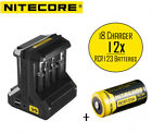 Netgear Arlo Camera Rechargeable CR123A Battery & i8 Charger Kit by Nitecore