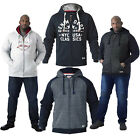 Duke D555 Big Tall King Size Mens Hooded Jacket 3 Style Zip Through Raglan Hoody
