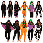 Womens Or Kids 3D Halloween All In Ones New Girls Boys Novelty Jumpsuit Pyjamas