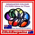GRADUATED COLOUR FILTER Blue Red Orange Green Yellow Camera Lens Filters 7 color