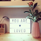 A4 Cinematic Light Up Emoji Letters Box Sign Lightbox DIY Message Board Party