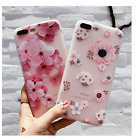 3D Relief Flower TPU Soft Shell Fitted Case Back Cover Shell for iPhone 7 Plus