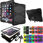 Hybrid Heavy Duty Shockproof Kickstand Case Cover Stand For iPad 2/3/4 mini 123