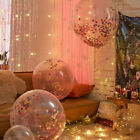 """36"""" 1Pc Clear Confetti Filled Balloon Heart Birthday Party Supply Wedding Decor"""