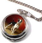 French Bulldog by Carl Reichert Full Hunter Pocket Watch (Optional Engraving)
