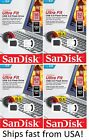 Sandisk 16GB 32GB 64GB 128GB Cruzer Ultra Fit 3.0 Flash Drive Memory Stick Lot