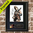 CARLOS SANTANA Mounted Signed Photo Reproduction Autograph Print A4 668