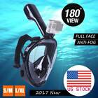 US 180° Full Face Mask Snorkel Anti-Fog Swimming Diving Scuba MasK for GoPro S/L