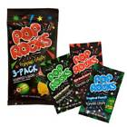 Watermelon, Strawberry, and Tropical Punch Pop Rocks Candy