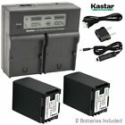BP-827 Battery or Dual LCD Charger for Canon FS200 FS300 FS40 FS400 XA10 CG-800