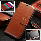 VINTAGE THIN PU LEATHER FLIP WALLET COVER BACK CASE FOR SAMSUNG GALAXY S7 EDGE
