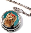 Yorkshire Terrier Full Hunter Pocket Watch (Optional Engraving)