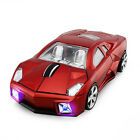 3D Wireless 2.4Ghz Lamborghini Car Optical Mouse USB Game Mice For Laptop PC LED