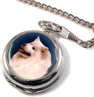 Samoyed Dog Full Hunter Pocket Watch (Optional Engraving)