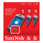 NEW SanDisk 8GB / 16GB / 32GB MicroSD SDHC TF Card Class 4 in Retail Packaging