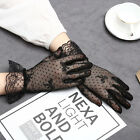 Woman Lace Ruffled Floral Elegant Lady Party Wedding Wrist Driving Gloves Mitten