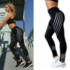 Lady High Waist Yoga Fitness Leggings Pants Gym Running Stretch Sports Trousers