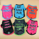 Pet Puppy Dog Cat Cute Summer Cool Clothes Vest T Shirt Print Pattern Costume
