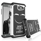 For Samsung Galaxy J3 Emerge / Express Prime 2 Pattern Hybrid Rubber Case Cover