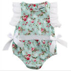 sunsuit for girls - new Floral Printed Baby Romper Bow Sunsuit Outfits for Infant Girl Summer