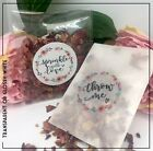 Throw Me | Sprinkle with love sticker Transparent | white gloss Wedding confetti
