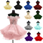 Ball Gown Tulle Sweetheart Bridesmaid Formal Prom Party  Evening Dress Size 6-22