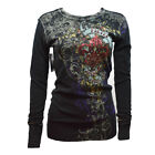 """Women's Long Sleeve T-Shirt- Thermal - Waffle Knit -""""FILTER"""" Medieval Art -$38 ."""