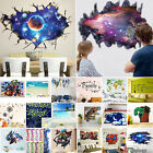The Avengers 3D Wall Stickers Removable Kids Nursery Home De