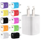 1A USB Wall Charger Plug AC Home Power Adapter For iPhone Samsung Android LG Lot