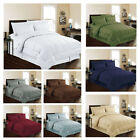 8 piece Bed In Bag Hotel Style Dobby Embossed Comforter Sheet Bed Skirt Sham Set image