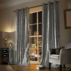 """Kylie Minogue Bedding Iliana Silver Eyelet Lined Curtains 90""""x90""""  Pair"""