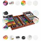 KIDDYCOLOR Deluxe Wood Art Set Paint Sets for Kids in Wooden Case Xmas Gifts USA