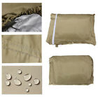 4 Person passenger car cover for golf carts fit club storage taupe
