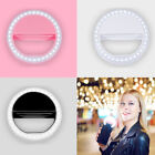 Beauty 360° Phone Selfie LED Ring Fill Flash Light Clip For iPhone Andriod USA