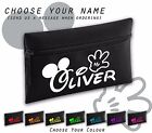 Disney Font Mickey Hands Any Name Personalised  Black Pencil Case School Gift