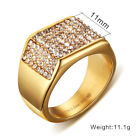 Sz 7-8-9-10-11-12 Men's 316L Stainless Steel CZ Party Band 11mm Engagement Ring