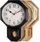 Traditional Schoolhouse Pendulum Wall Clock Westminster Chime