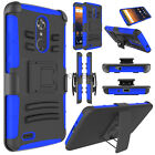 For ZTE Max XL/N9560 Hybrid Shockproof Protective Hard Clip Kickstand Case Cover