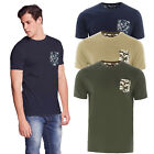 Brave Soul Pulp Mens Designer Camo T Shirt Cotton Tee Military Short Sleeved Top