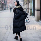 Women Hood Quilted Coat Loose Overknee Thickening Long Down Cotton-padded Jacket