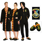 Adults Official Harry Potter Hogwarts Crest Bathrobe All In One OR Slippers
